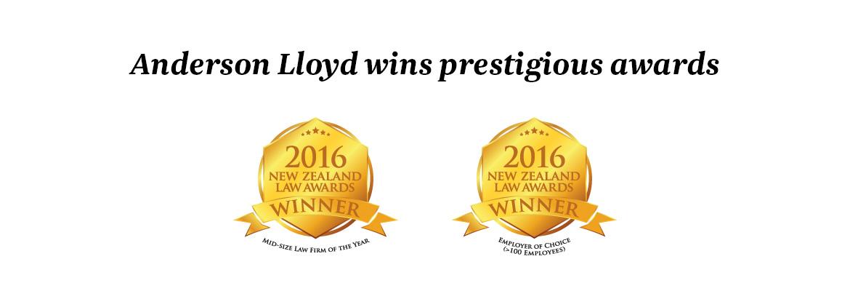 Anderson Lloyd wins prestigious awards