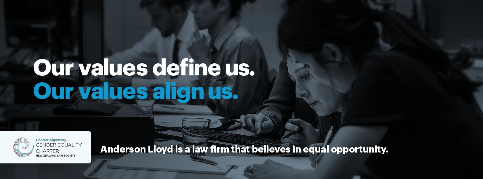 Anderson Lloyd is a law firm that believes in equal opportunity