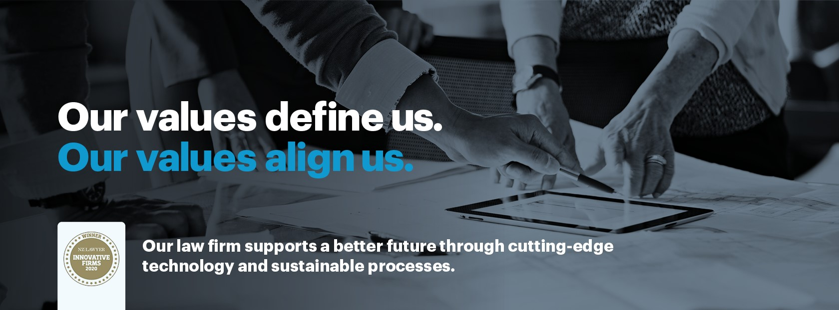 Our law firm supports a better future through cutting-edge technology and sustainable processes